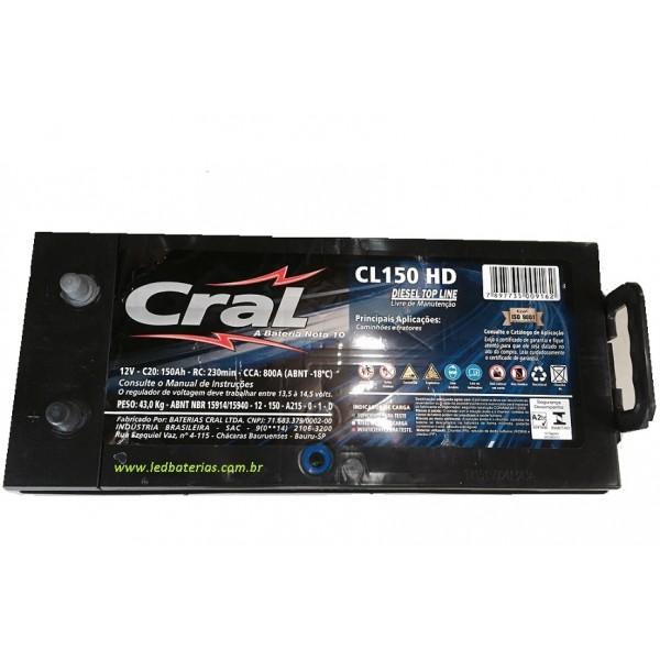 Bateria Cral Preço na Vila Mineira - Baterias Cral Brasil